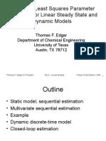 Recursive Least Squares Parameter Slides