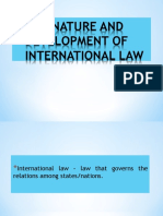 1. the Nature and Development of International Law (1)