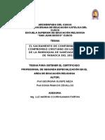 TESINA EL SACRAMENTO DE CONFIRMACION  Y EL COMPROMISO CRISTIANO EN LOS  JOVENES DE LA PARROQUIA DE SANTIAGO APOSTOL DE YANAOCA DEL 2017