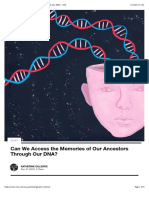 Can We Access the Memories of Our Ancestors Through Our DNA?