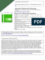 Biofouling in Membrane Bioreactor