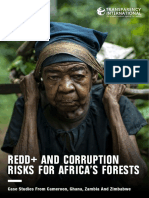 REDD+ AND CORRUPTION RISKS FOR AFRICA'S FORESTS