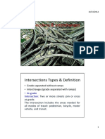 Intersections Types and Interchanges