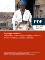 Preparing for the Future? Understanding the influence of development interventions on adaptive capacity at local level in Ethiopia