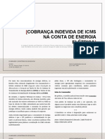 Matéria - Cobrança Indevida de ICMS Na Conta de Energia Elétrica