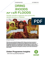 Restoring Livelihoods After Floods