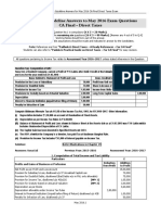 CA FINAL Direct Taxes Guideline Answers for May 2016 Exam