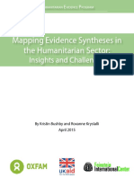 Mapping Evidence Syntheses in the Humanitarian Sector
