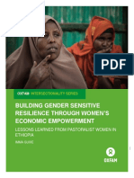 Building Gender Sensitive Resilience Through Women's Economic Empowerment