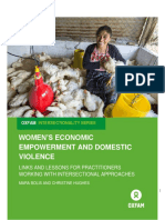 Women's Economic Empowerment and Domestic Violence