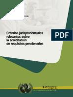 Criterios Jurisprudenciales Relevantes sobre la Acreditacion de Requisitos Pensionarios.pdf