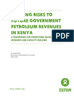 Mapping Risks to Future Government Petroleum Revenues in Kenya