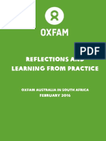 Reflections and Learning from Practice