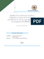 Analisis Eficiencia Tecnica y Asignativa ATraves Fronteras Estocasticas Costes Una Aplicacion Hospitales Sub