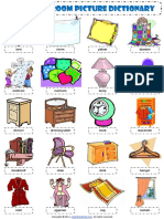In the Bedroom Esl Picture Dictionary Worksheet