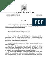Lege de Modificare a Legii Nr. 284 Trimisa La Promulgare