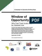 Window of Opportunity