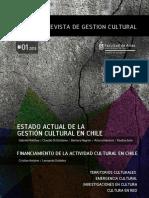 Revista Magíster gestión cultural UChile