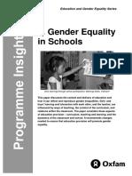 Gender Equality in Schools