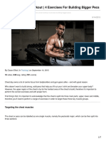 Myprotein.com-Beginners Chest Workout 4 Exercises for Building Bigger Pecs