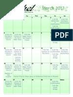 Bethel Calendar March 2017