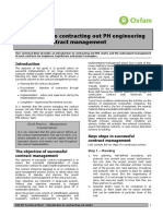 Introduction to Contracting out PH Engineering Works and Contract Management