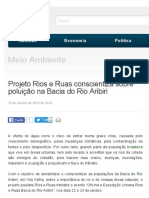 Projeto Rios e Ruas conscientiza sobre poluição na Bacia do Rio Aribiri