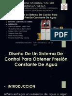 Diseño de Un Sistema PRESION CONSTANTE