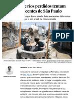 Caçadores de rios perdidos tentam salvar as nascentes de São Paulo