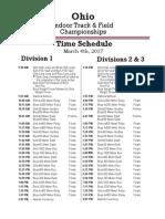 Oatccc Indoor State Meet Schedule 2017
