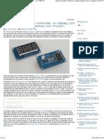 Librería Arduino Para Display LED de 7 Segmentos Con TM1637