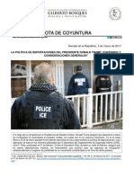 LA POLÍTICA DE DEPORTACIONES DEL PRESIDENTE DONALD TRUMP