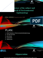 The history of the subject and research of Environmental Epidemiology