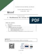 Cours CPGE - Modélisation Des Actions Mécaniques