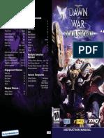 Warhammer 40000 - Dawn of War - Soulstorm - Manual - PC
