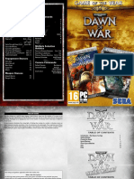 Dawn of War Game of the Year edition Manual