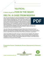 Women's Political Participation in the Niger Delta