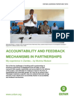 Accountability and Feedback Mechanisms in Partnerships
