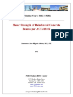 Shear Strength of Reinforced Concrete Beams per ACI 318-02