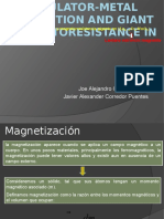 Insulator-metal Transition and Giant Magnetoresistance In
