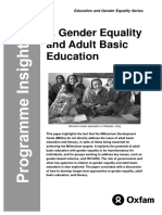 Gender Equality and Adult Basic Education