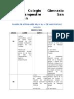 Cuadro de Actividades 3 FILOSOFÍA.