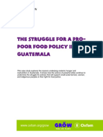 The Struggle for a Pro-Poor Food Policy in Guatemala