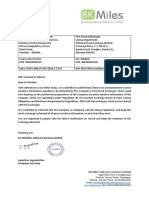 Clarification [Company Update]