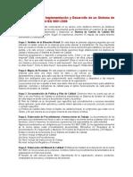 Pasos Para Implementación de Un Sistema de Gestión de Calidad ISO 9001