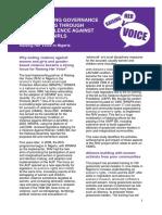 Strengthening Governance Programming Through Tackling Violence Against Women and Girls