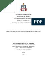 Adaptação de Um Contêiner Para Ocupação Humana, Cálculo da Carga Térmica.