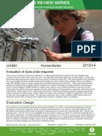 Humanitarian Quality Assurance - Jordan