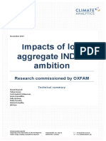 Impacts of Low Aggregate INDCs Ambition
