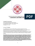 OKETEYECONNE CHATAH TRIBAL TRUST CHARTER CONSTRUCTIVE & PUBLIC NOTICE
